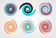 Color Spiral Swirl Set Circle ...