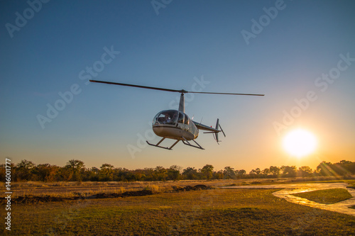 Helicopter at the victoria falls