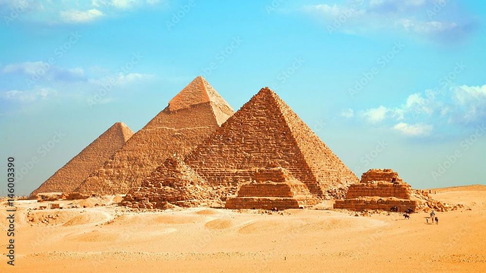 Fototapeta Egyptian pyramids - Egypt Travel