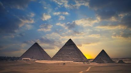 Egyptian pyramids at sunset - Egypt Travel