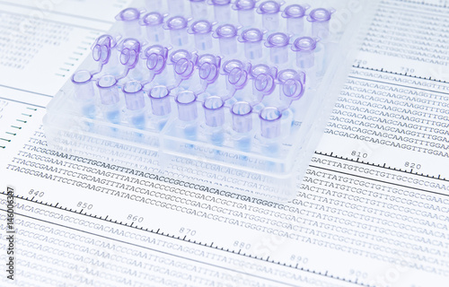 DNA sequencing for looking mutations Canvas Print