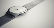 Side View Of Silver Watch