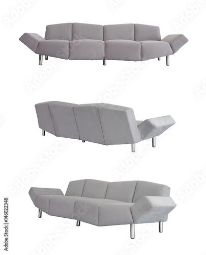 Grey Sofa in all angles Wallpaper Mural
