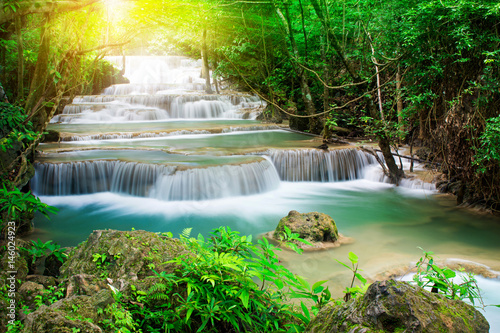 Recess Fitting Waterfalls Beautiful waterfall in tropical forest