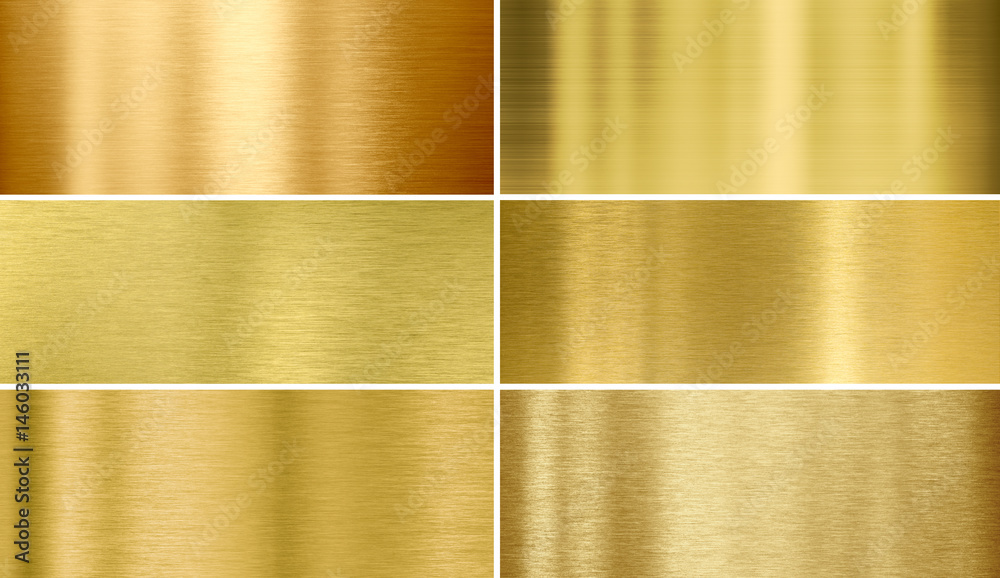 Fototapety, obrazy: Gold or brass brushed metal textures