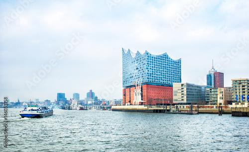 Papiers peints Opera, Theatre view of Hamburg city