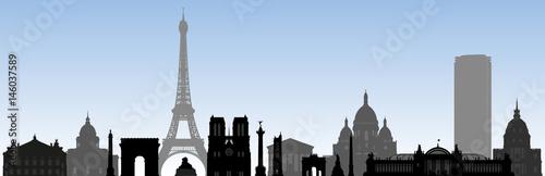 Fotografia  monument parisiens - Paris - tourisme - tour Eiffel - frise - site célèbre