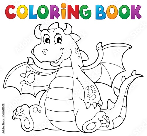Wall Murals For Kids Coloring book dragon theme image 6