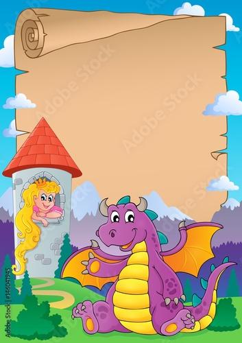 Printed kitchen splashbacks Castle Fairy tale theme parchment 8