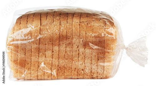 Fotografia Sliced bread in plastic bag