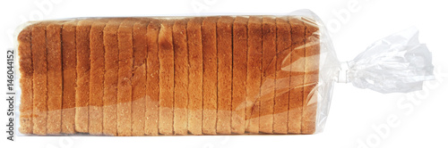 Photo Sliced toast bread in plastic bag