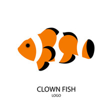The Silhouette Of Clownfish. F...