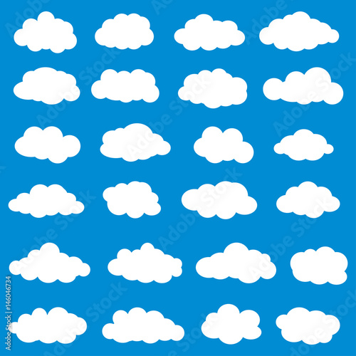 Foto op Plexiglas Hemel Clouds set vector. Vector illustration of clouds collection