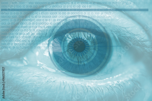Fotografía  Acceso biométrico por el ojo