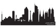 Jakarta Indonesia city skyline vector silhouette