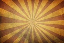 Star Burst Background With Stripes On Old Retro Texture
