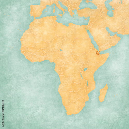 Djibouti On Africa Map.Map Of Africa Djibouti Buy This Stock Illustration And Explore