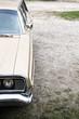 Teil eines amerikanischen Autos aus den siebziger Jahren