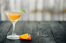 Coctail With Orange And Tomato...