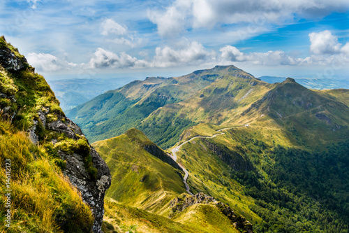 View of Puy Mary, Auvergne, France Canvas Print