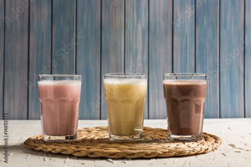Foto op Aluminium Milkshake Delicious Milkshakes