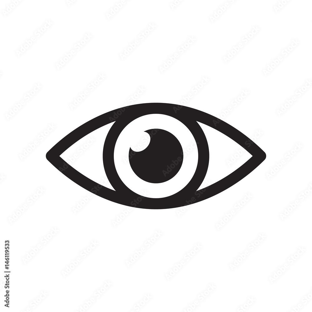 Fototapeta Simple eye icon vector. Eyesight pictogram in flat style.