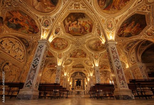 Salerno cathedral crypt Fototapeta
