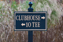Golf Course Sign For Clubhouse...