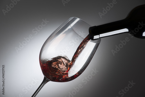 glass with red wine Canvas