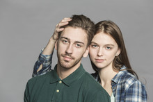 Portrait Of Young Couple Stand...