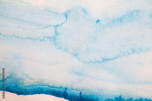 Zdjęcie XXL Streszczenie niebieskim tle akwarela