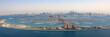 canvas print picture - Dubai The Palm Jumeirah Palme Insel Atlantis Hotel Panorama Marina Luftaufnahme Luftbild