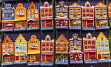 Ceramic House Magnet Sovenirs Amsterdam Holland Netherlands