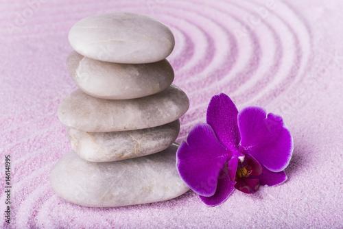 Photo sur Plexiglas Zen pierres a sable zen giardino