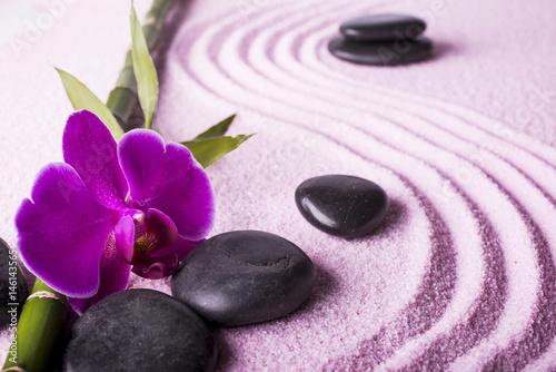 Photo sur Toile Zen pierres a sable zen, giardino