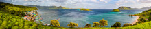 Panoramic View Of The Komodo Village And Azure Bay, Indonesia, Komodo Island