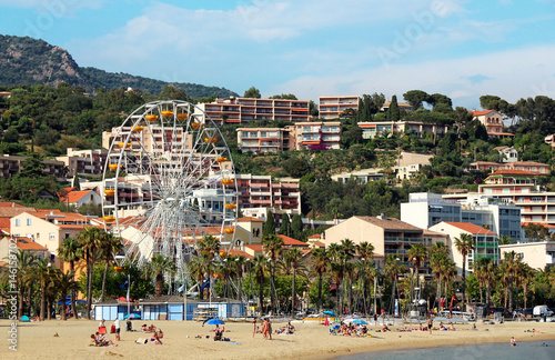 Poster Los Angeles Lavandou - French Riviera - beach and big wheel