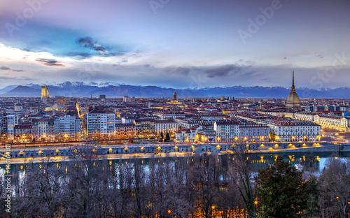 Photo Torino alla sera