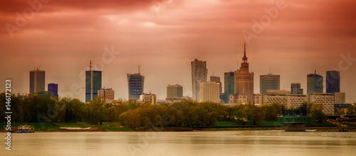fototapeta na szkło Panorama of Warsaw
