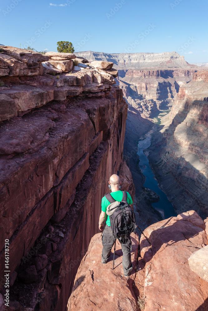 Fotograf am Toroweap Point/ Grand Canyon in Arizona
