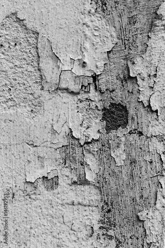 Foto auf AluDibond Alte schmutzig texturierte wand Scratched old concrete wall black and white