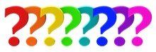 Question Mark Questions Interrogation Point Set Asking Sign Question Icon 3d Colorful Rainbow Colors Punctuation Mark Isolated On White
