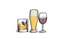 Illustrazione Di Alcool, Vino,...