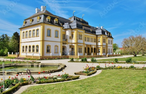 Montage in der Fensternische Schloss Schloss Veitshöchheim mit Hofgarten