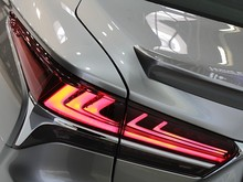 Detail Of Elegant Shape Of Rear Lights On Modern Japanese Exclusive Hybrid Car