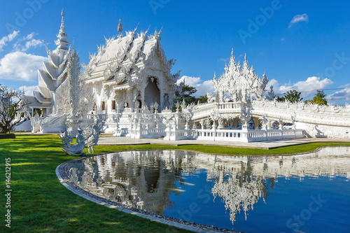 Foto  Wat Rong Khun , temple, buddhist temple of Thailand.