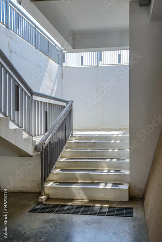 Photo Stands Stairs Empty modern building stairway