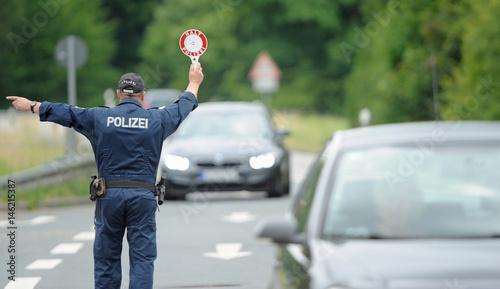 Fotografie, Obraz  allgemeine Verkehrskontrolle im Odenwaldkreis