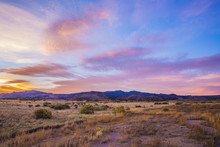 Sunset Over Desert Mountains