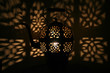 canvas print picture - Lamp arabic style with shadow